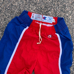 1993/1994 Los Angeles Clippers Pro Cut Team Issued Warm Up Pants by Champion-Locker Room Clt