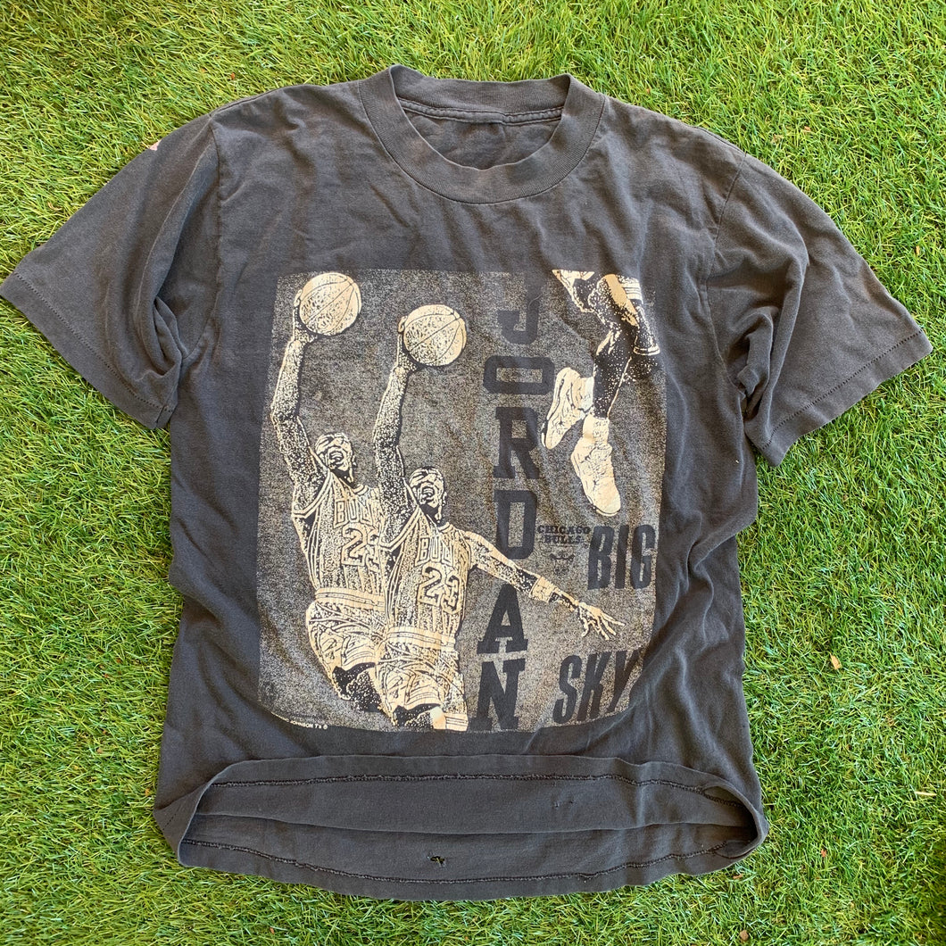 90's Michael Jordan Big Sky Vintage Tee by Magic Johnson Tees (Incredible Fade)-Locker Room Clt