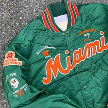 Load image into Gallery viewer, 90's Miami Hurricanes Bowl Game Victories Satin Jacket-Locker Room Clt