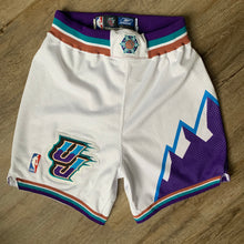 Load image into Gallery viewer, 2002/2003 Utah Jazz Pro Cut/Team Issued Home NBA Shorts by Reebok (Medium)-Locker Room Clt