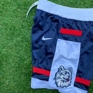 90's UCONN/Connecticut Huskies Heavy Mesh Authentic Shorts by Nike (Ray Allen Era)-Locker Room Clt