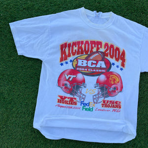 2004 College Football Kickoff Tee (Large)-Locker Room Clt