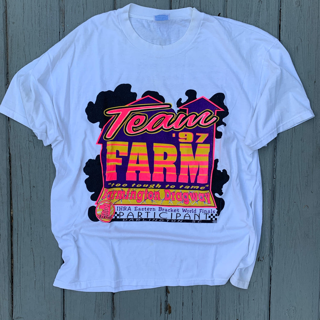 90's Farmington Dragway Front & Back Print Tee-Locker Room Clt