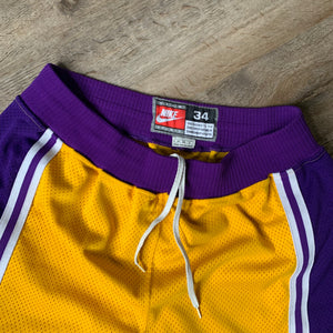 90's Los Angeles Lakers Authentic NBA Shorts by Nike-Locker Room Clt
