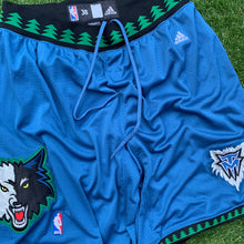 Load image into Gallery viewer, 2000's Minnesota Timberwolves Heavy Mesh Authentic Shorts by Adidas-Locker Room Clt