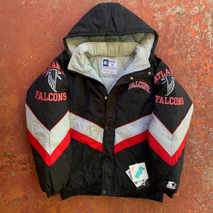 90's Atlanta Falcons Big Logo Starter Jacket - Brand New-Locker Room Clt