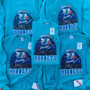 1988 Charlotte Hornets City Skyline Vintage NBA Crewneck (SELECT SIZE) BRAND NEW-Locker Room Clt
