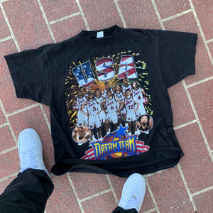 1996 USA Dream Team Roster Rap Tee Style Tee (XL)-Locker Room Clt
