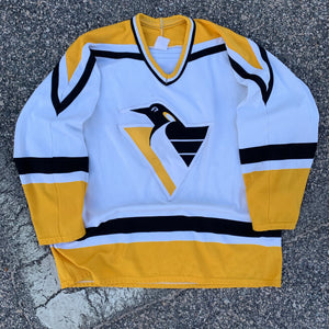 90's Pittsburgh Penguins Hockey Jersey-Locker Room Clt