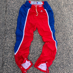 1993/1994 Los Angeles Clippers Pro Cut Team Issued Warm Up Pants by Champion (Large)-Locker Room Clt