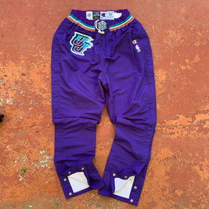 1996/97 Utah Jazz Pro Cut Team Issued Warm Up Pants by Champion-Locker Room Clt