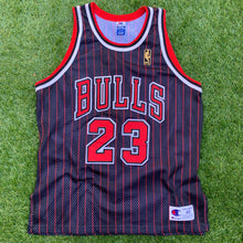 Load image into Gallery viewer, 1996/1997 Michael Jordan Chicago Bulls 50th Anniversary Authentic by Champion (XL)-Locker Room Clt