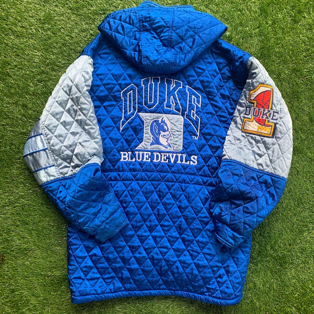 1992 Duke Blue Devils Quilted Stitched Coat-Locker Room Clt