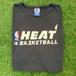 90's Miami Heat Vintage NBA Practice Tee by Champion-Locker Room Clt