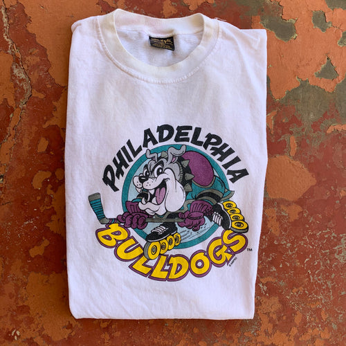 1994 Philadelphia Bulldogs In-line Hockey Team Tee (XL)-Locker Room Clt