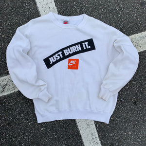 90's Nike Just Burn It Vintage Crewneck (Large)-Locker Room Clt