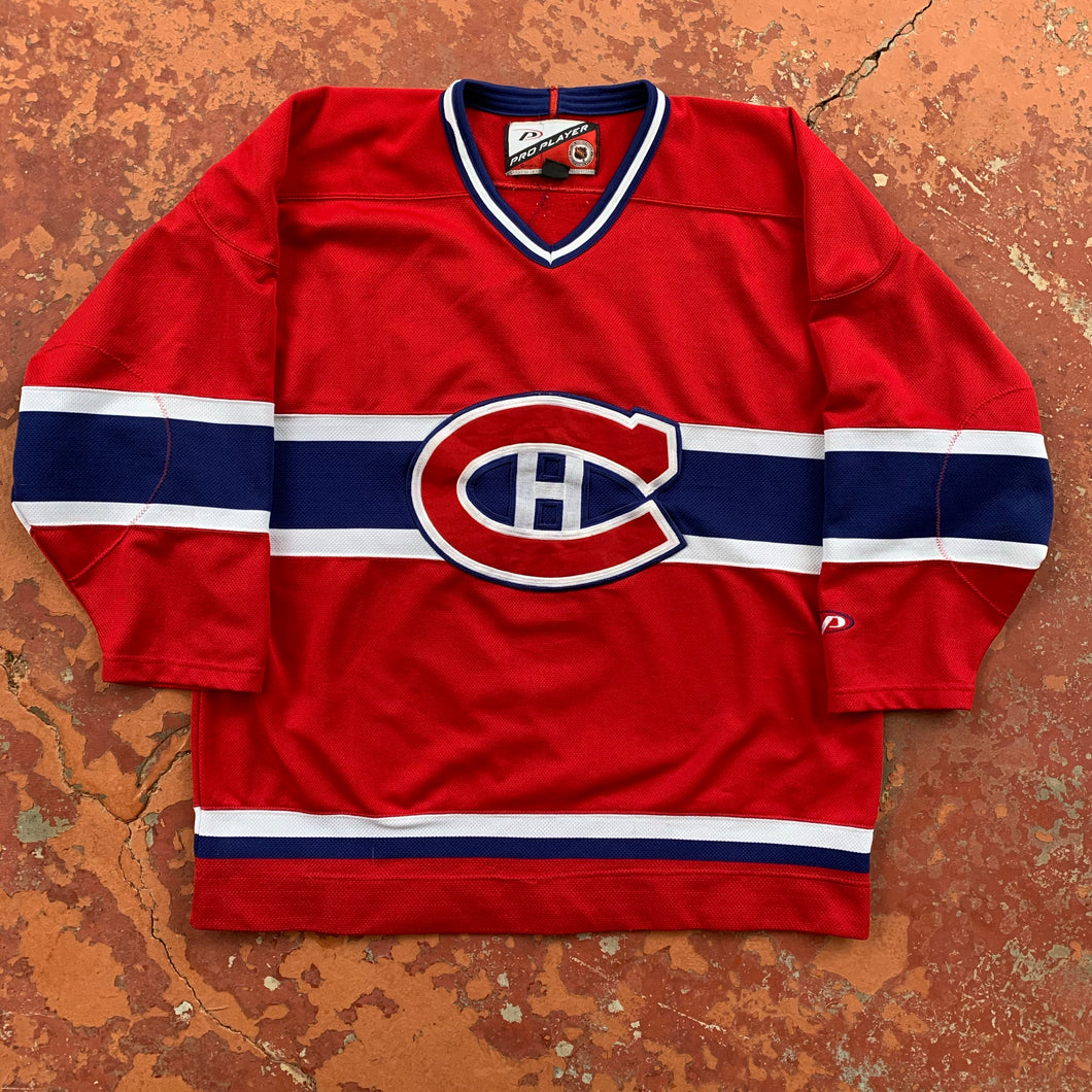 90's Montreal Canadians NHL Hockey Jersey-Locker Room Clt