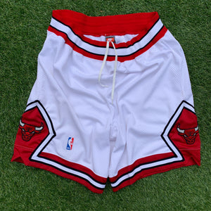 90's Chicago Bulls White Home Authentic NBA Shorts by Nike-Locker Room Clt