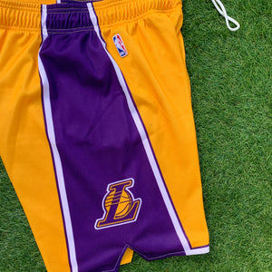 2009/2010 Los Angeles Lakers Euro Release NBA Shorts by Champion-Locker Room Clt