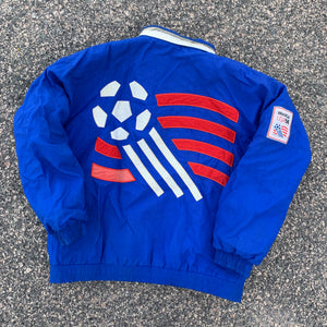 1994 USA World Cup Soccer Pullover Jacket by Apex One-Locker Room Clt