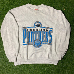 90's Carolina Panthers Vintage NFL Crewneck (XL)-Locker Room Clt