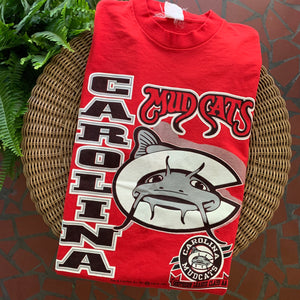 1993 Carolina Mudcats Minor League Baseball Tee-Locker Room Clt