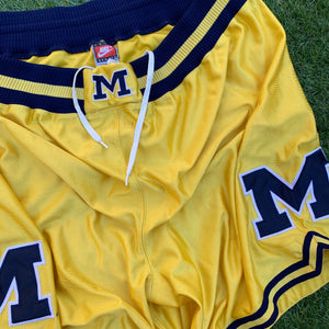 90's Michigan Wolverines Fab 5 Authentic Shorts by Nike-Locker Room Clt