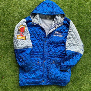 1992 Duke Blue Devils Quilted Stitched Coat (XL)-Locker Room Clt