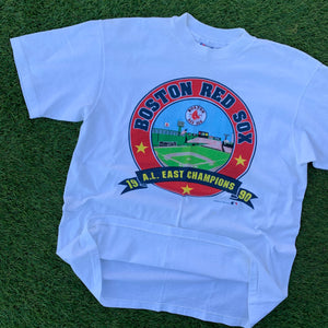 1990 Boston Red Sox AL East Champions Vintage Tee (Large)-Locker Room Clt