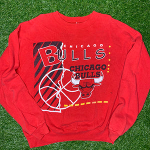 90's Chicago Bulls Vintage NBA Crewneck (Large)-Locker Room Clt