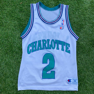 90's Larry Johnson Charlotte Hornets NBA Jersey by Champion-Locker Room Clt