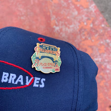 Load image into Gallery viewer, 90's Atlanta Braves Snapback Hat w/ 1993 Division Champs Pin-Locker Room Clt