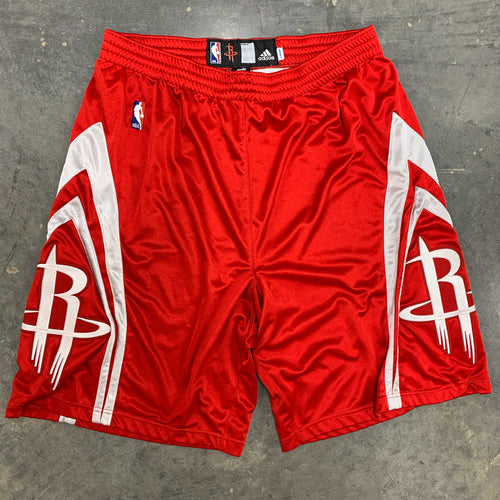 00's (mid) Houston Rockets Team Issued/Pro Cut TMAC Era NBA Shorts by Adidas (44/XL)-Locker Room Clt