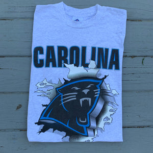 90's Carolina Panthers Front & Back Big Print Tee (Large)-Locker Room Clt