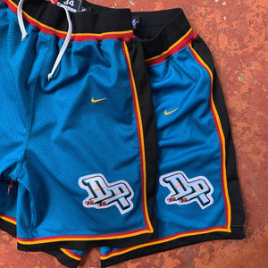 90's Detroit Pistons Teal Authentic NBA Shorts by Nike (MEDIUM & LARGE)-Locker Room Clt