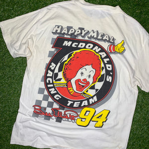 1998 Bill Elliott McDonalds Happy Meal NASCAR Tee (XL)-Locker Room Clt