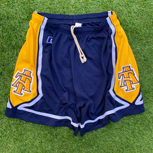 90's North Carolina A&T Aggies (NCAT) Team Issued Game Shorts-Locker Room Clt