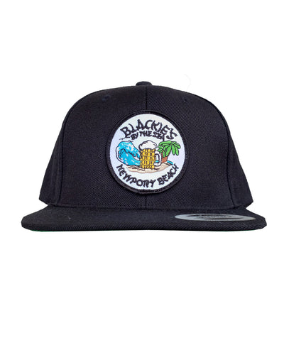 Black Snapback Beach Patch
