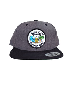 Charcoal Snapback Beach Patch