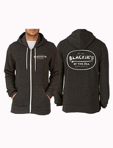 Charcoal Gray Zip Up Hoodie Surfboard