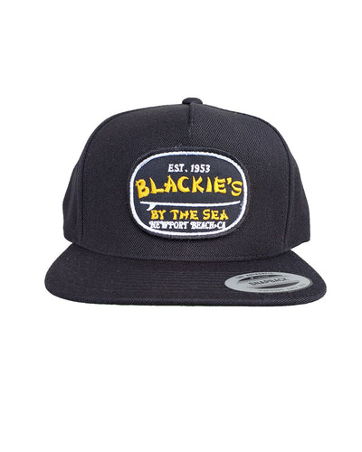 Black Snapback Surfboard Patch