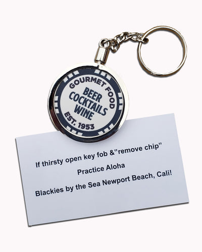 Blackies Poker Chip Keychain