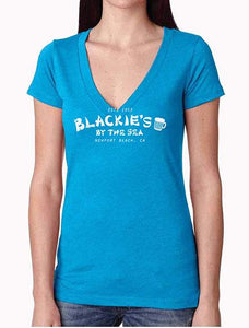 Women's Turquoise V-Neck Blackie's