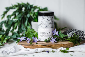 LAVENDER + FRANKINCENSE BATH AND FOOT SALTS