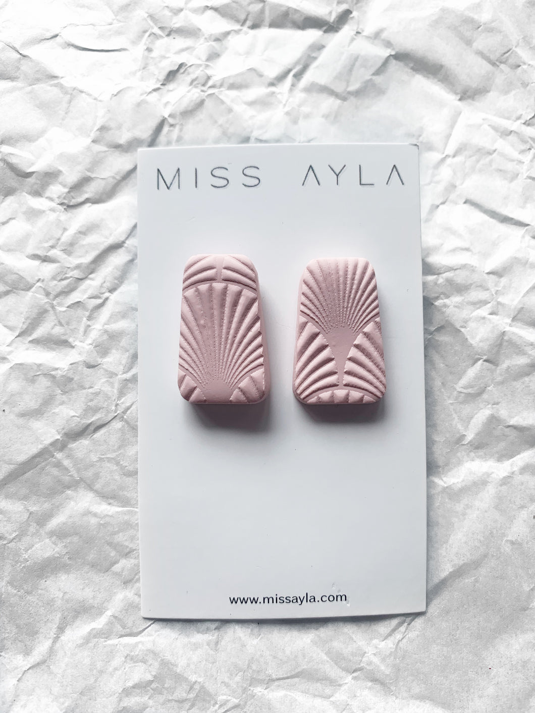 MISS AYLA PINK TEXTURED STUDS