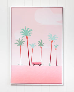 COMBI & PALMS FRAMED CANVAS LARGE