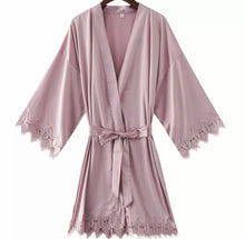 Load image into Gallery viewer, ROBE WITH LACE TRIM