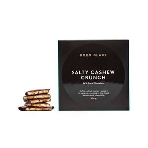 KOKO BLACK SALTED CASHEW CRUNCH DARK CHOCOLATE