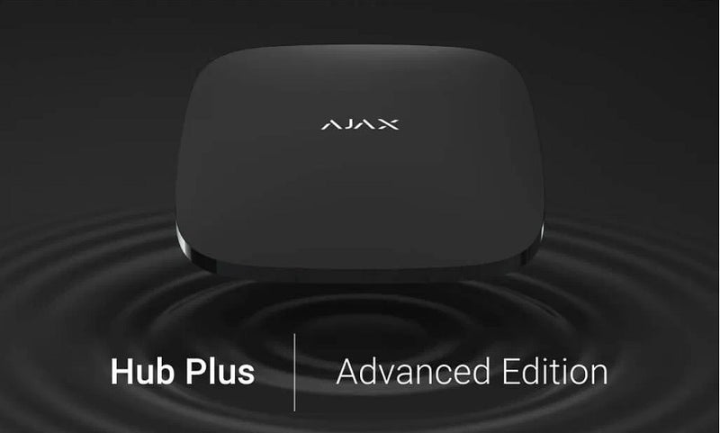 AJAX HUB PLUS - 2 SIM (2G, 3G), WiFi, Ethernet, 150 Devices + Up to 5 REX