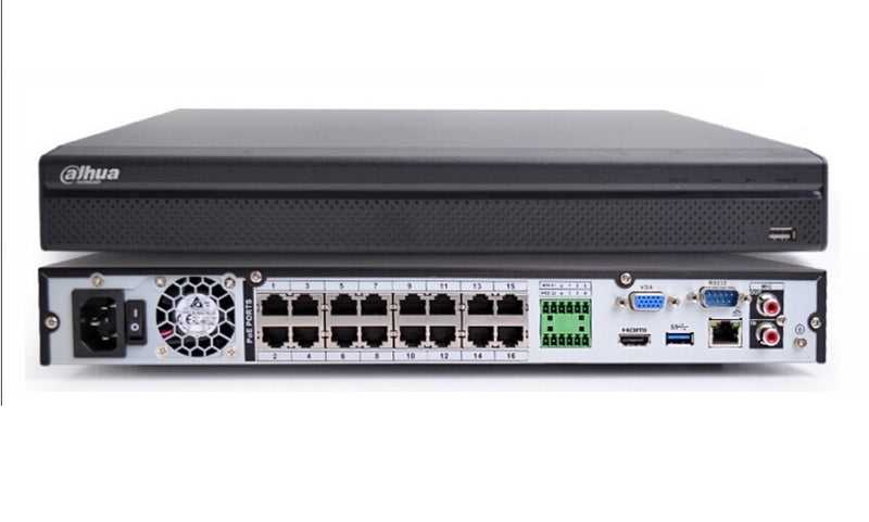 NVR4216-16P - 16 Channel 16PoE 1U Lite Network Video Recorder
